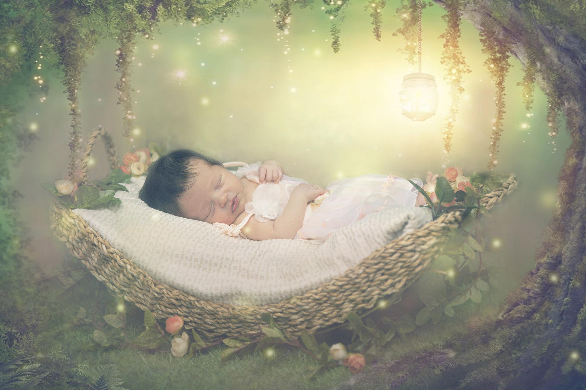újszülött kreatív fotózás