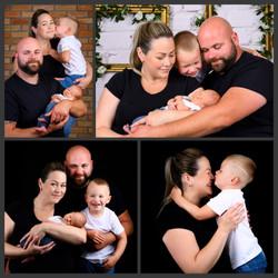 újszülött fotózás családdal