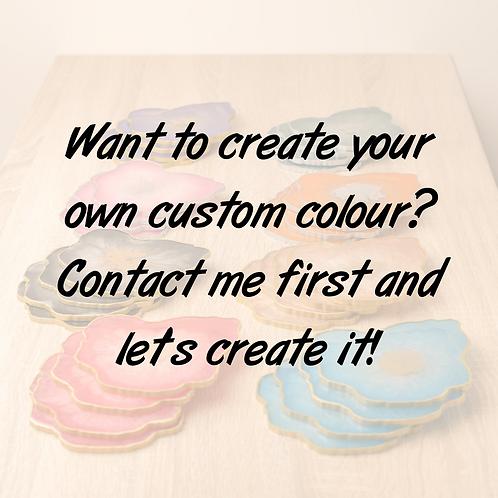 Custom colour geode coaster
