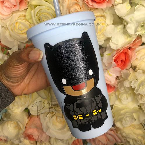 Personalised Batman reusable matte tumbler