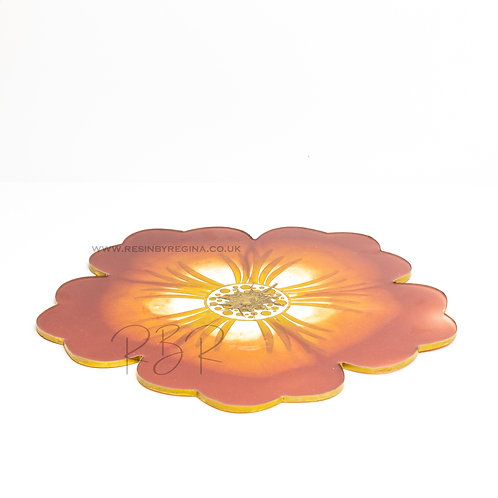 Large resin flower tray