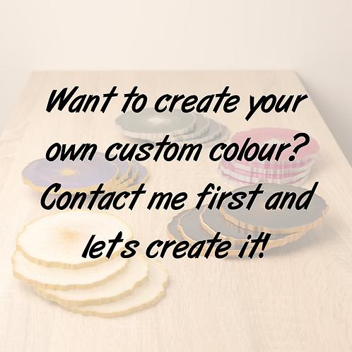 Custom colour agate round coaster