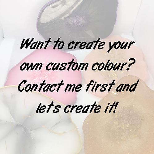 Custom colour resin palette