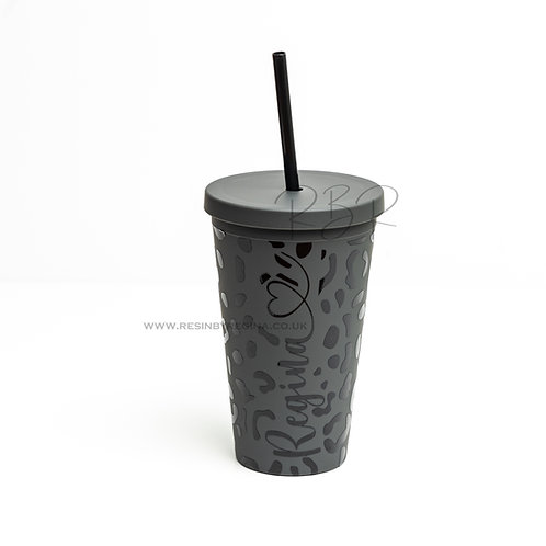 Personalised 16oz reusable matte tumbler