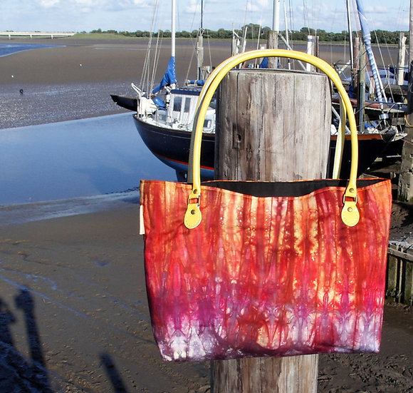 'Lena' Hand Dyed Knitting Tote