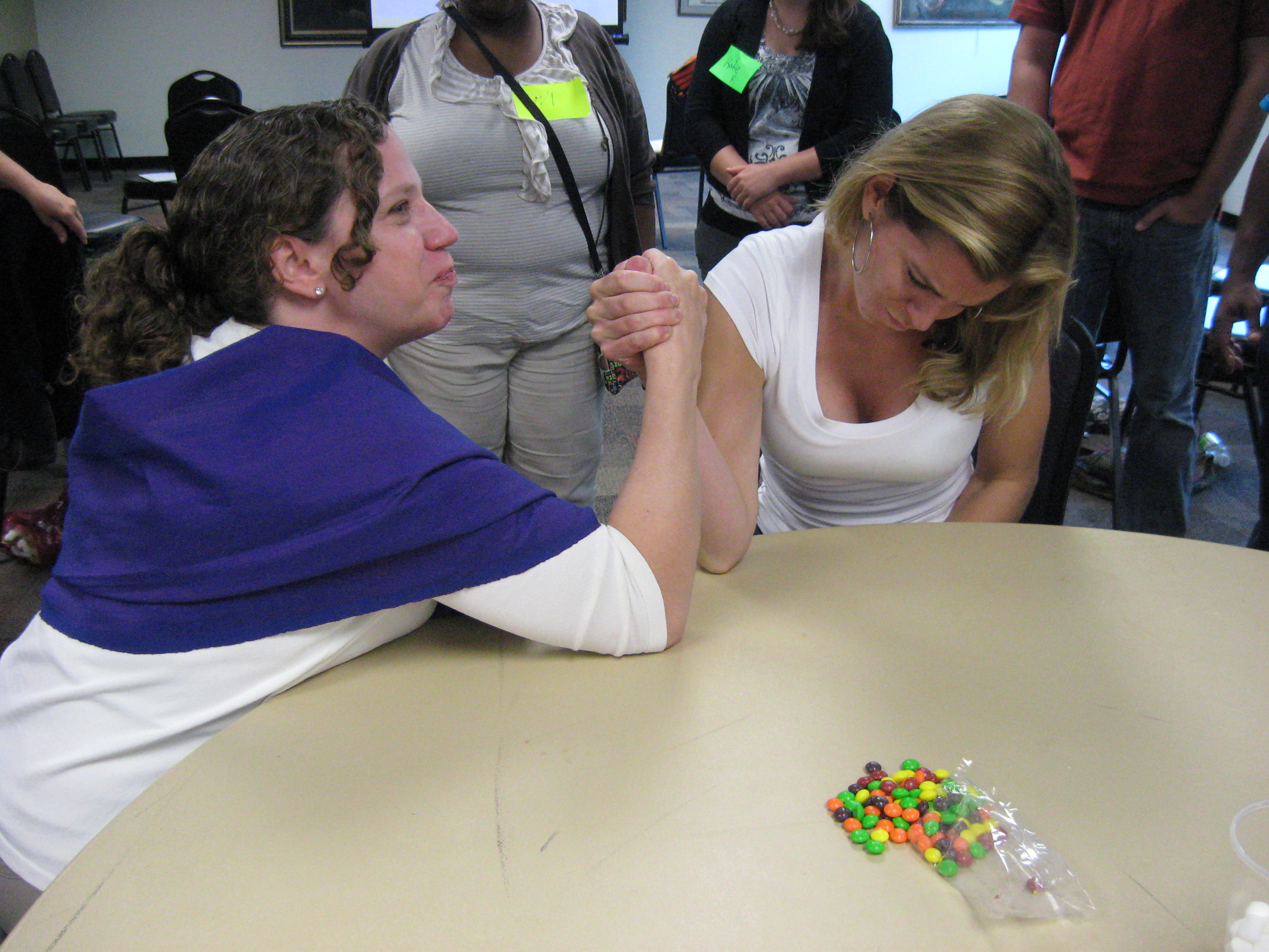 Arm Wrestle for Skittles
