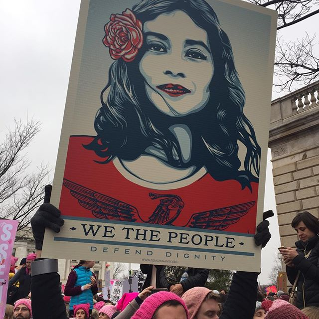 Great #portraits _obeygiant _womensmarch #womensmarchonwashington