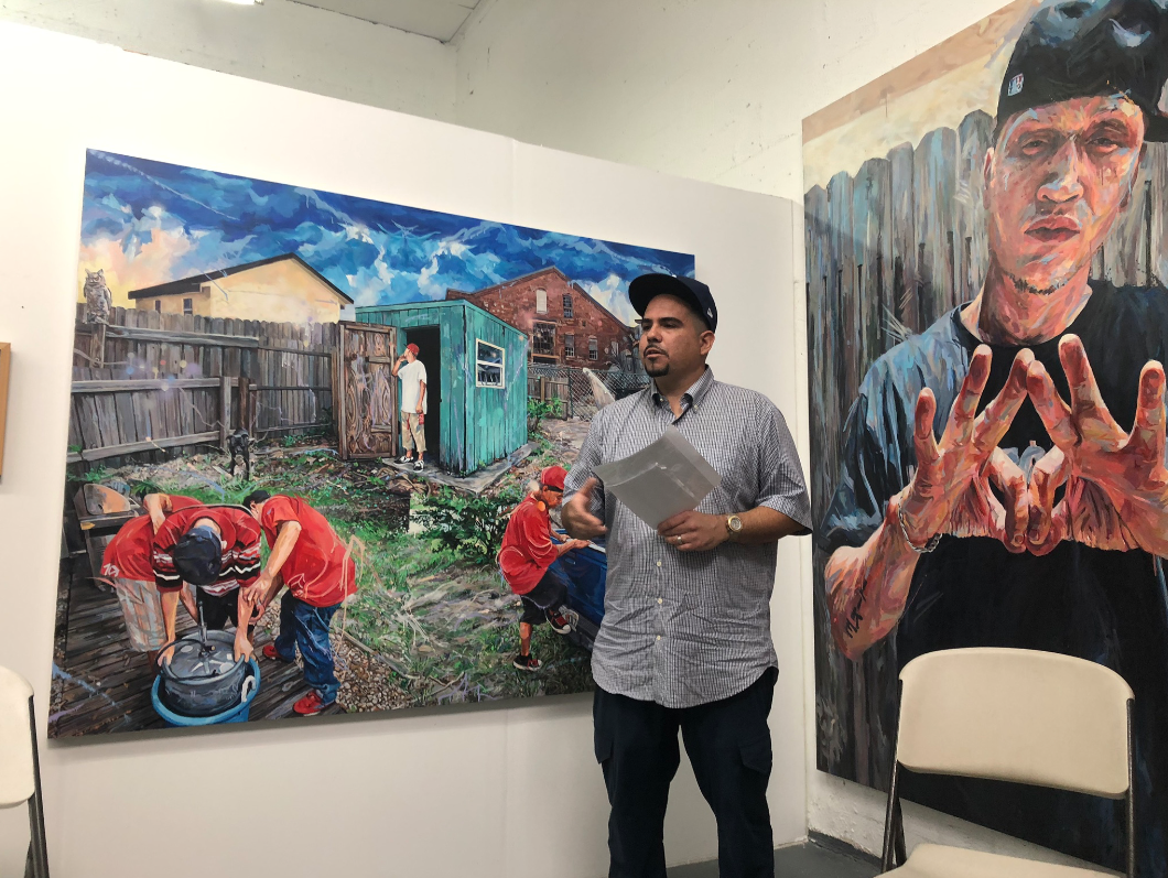 Michael Vasquez in his studio