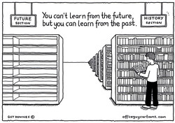 The empty shelves of the future by Guy Downes