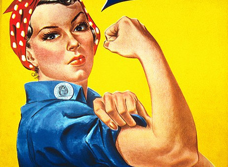 She was much younger & did it in heels. Rosie the Riveter versus  Uncle Sam.
