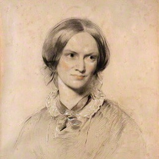 This portrait of Charlotte Bronte (detail, chalk drawing) of 1850 is in the collection of _nationalp