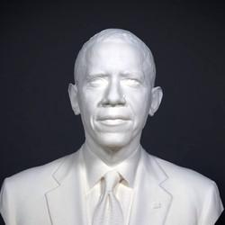 President Obama 3D bust