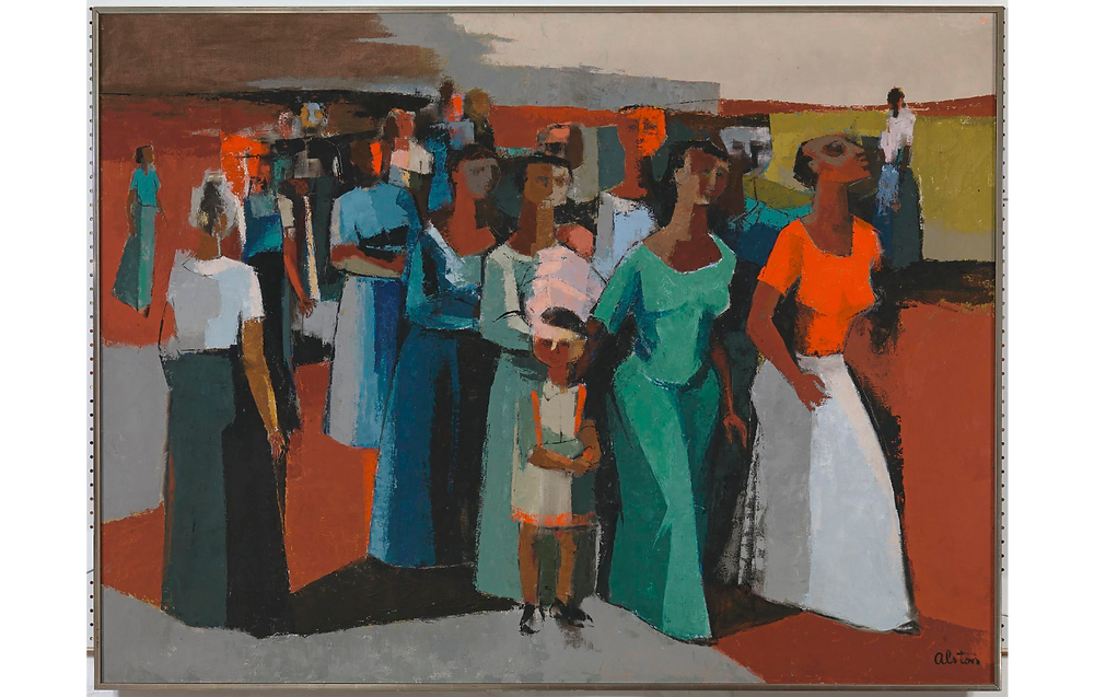 Charles Henry Alston, Walking, 1958. Oil paint and gesso on canvas, National Museum of African American History and Culture, Smithsonian Institution.