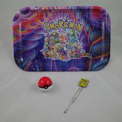 Backwoods Smokemon Pokemon Large Metal Rolling Tray Gift Pack Kit