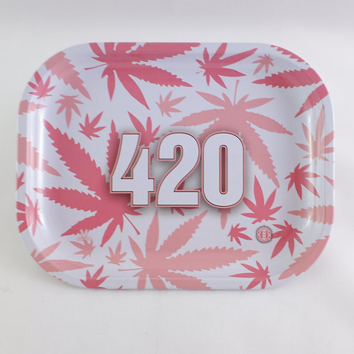 Pink Leaf 420 Amsterdam Originals Small Metal Tray