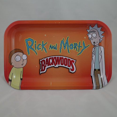 Backwoods Rick and Morty Large Metal Tray