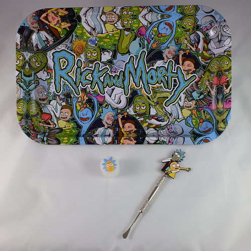 Rick and Morty Large Metal Tray Dabs Gift Pack Kit