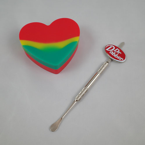 Dr Dabber Dab Stick & Rasta Heart Jar Kit