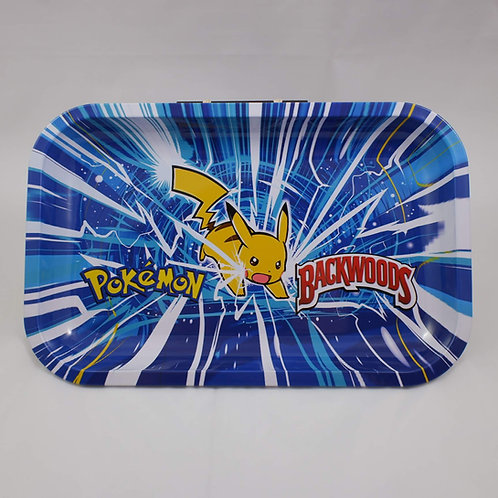 Backwoods Pikachu Pokemon Large Metal Rolling Tray