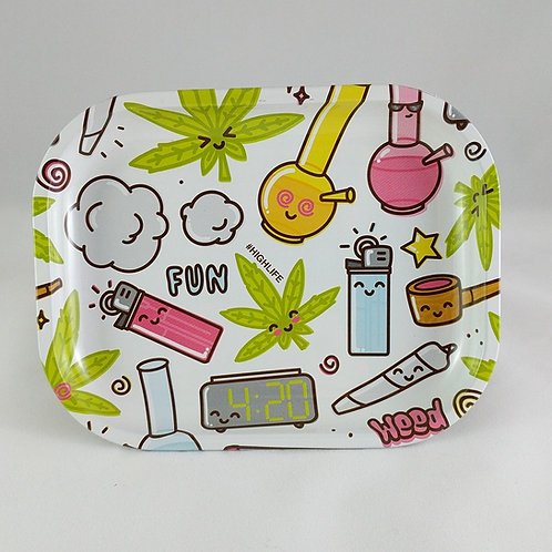 Happy Time Metal Rolling Tray
