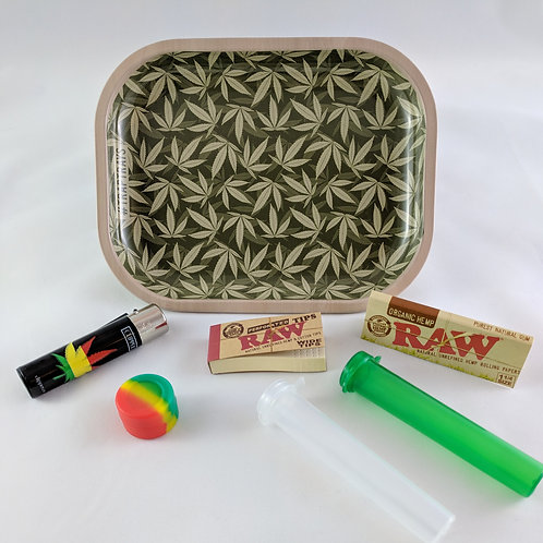 Simple Leaf Small Metal Tray Gift Pack Kit