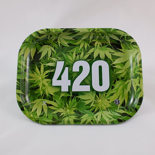 Green Leaf 420 Amsterdam Originals Small Metal Tray