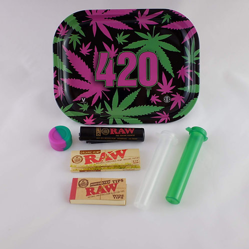 Purple Leaf 420 Amsterdam Originals Small Metal Tray Gift Pack Kit