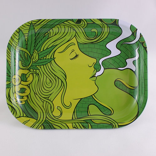 Green Goddess Metal Rolling Tray
