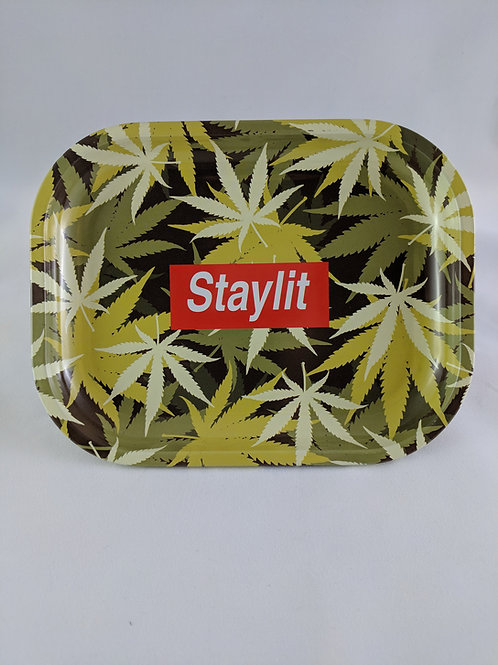 Stay Lit Metal Rolling Tray