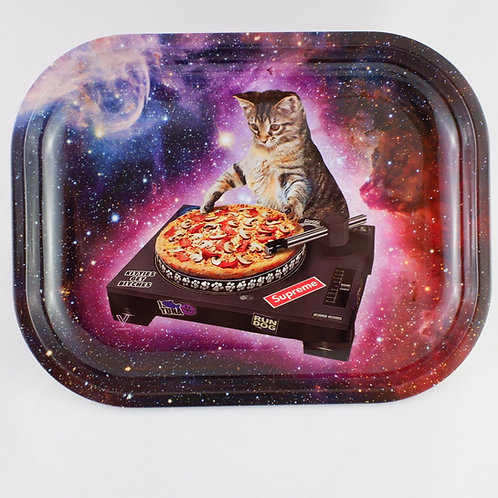 DJ Cat Vinyl Small Metal Tray
