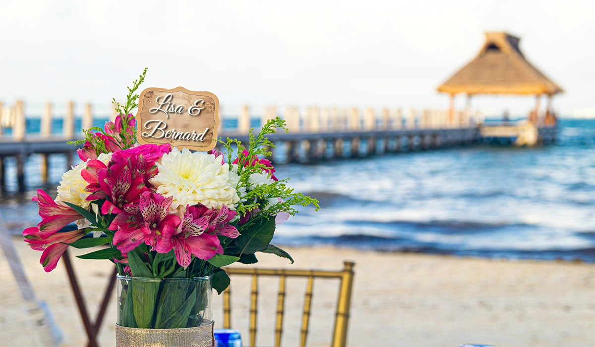 You're Invited - Beach Flowers
