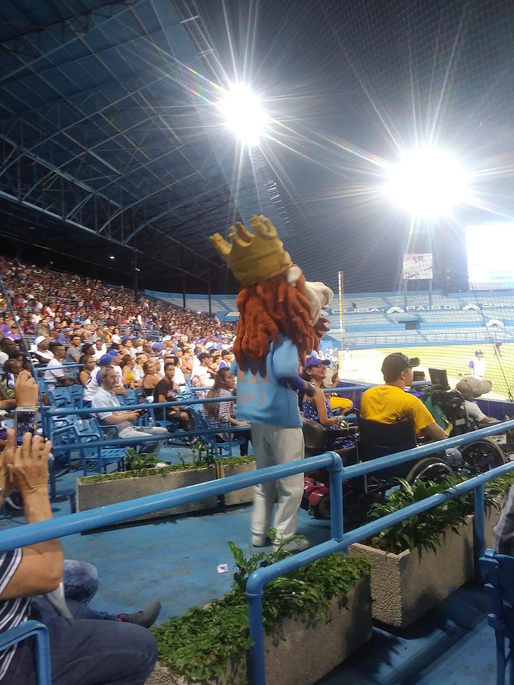 Havana's Industriales lion mascot @ Nov. 12, 2018 home game