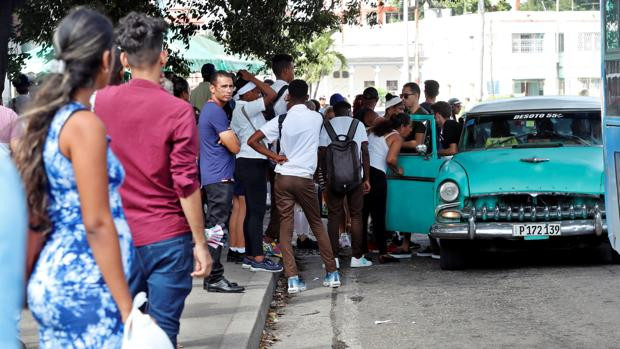 Long Lines b/c of Cuba Fuel Crisis 2019