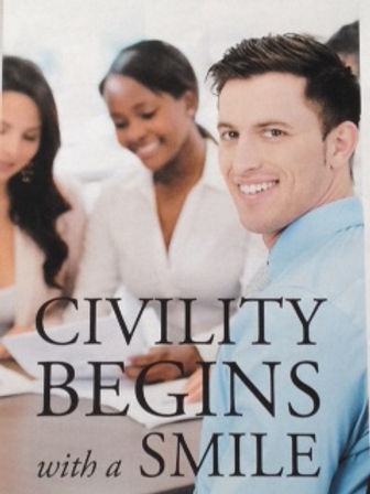 Learn key points of civility in this ground breaking quick, fun, easy way! Enjoy!!