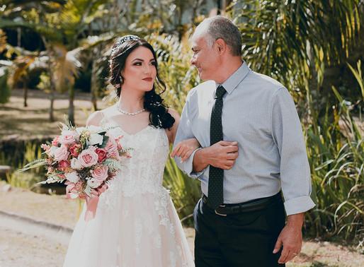 O pai e a noiva. Momentos importantes antes do Sim!