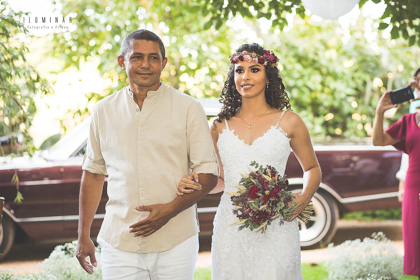 Chegada da noiva Mini wedding
