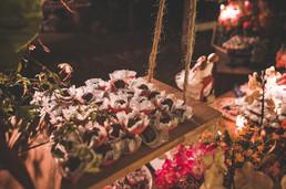 doces mesa do bolo de casamento
