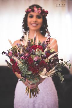A noiva e o Buque Mini Wedding