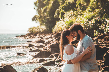 foto romantica na praia