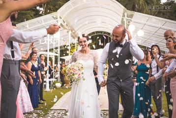Casamento Espaço Ravena Garden - Cerimonia petalas de Rosa - Mairiporã São Paulo