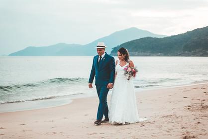 casamento na praia toque toque pequeno