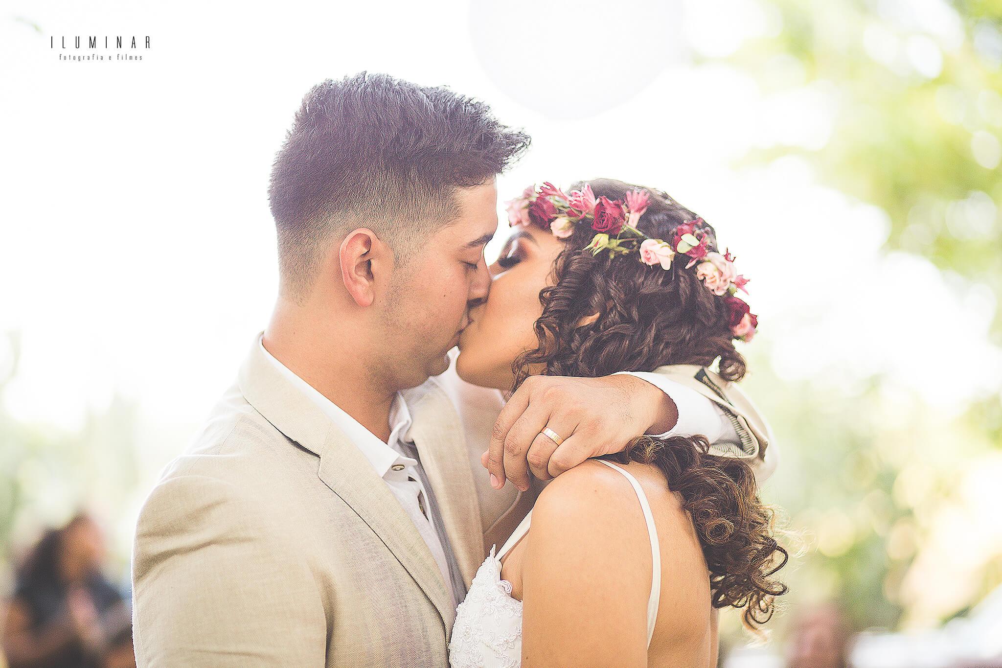 Beijo dos noivos Mini Wedding