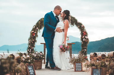 foto casamento na praia iluminar fotografia