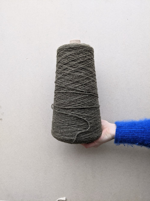 Khaki Green Wool Blend