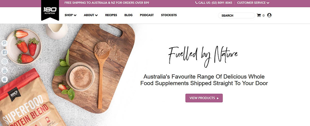 Online Shopping Centre Australia - 180 Nutrition