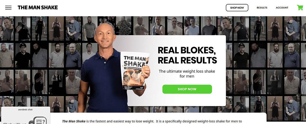 Online Shopping Centre Australia - The man shake