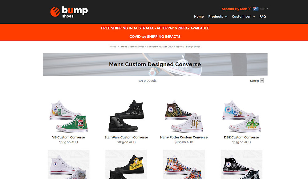 Bump Shoes for men