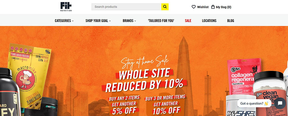 Online Shopping Centre Australia - Fit Nutrition