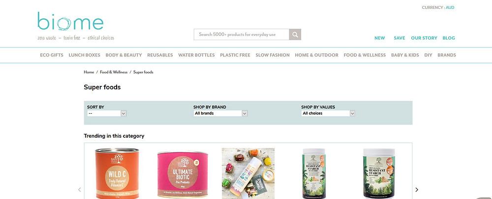 Online Shopping Centre Australia - biome