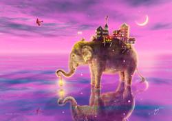 旅する象ピンクバージョン